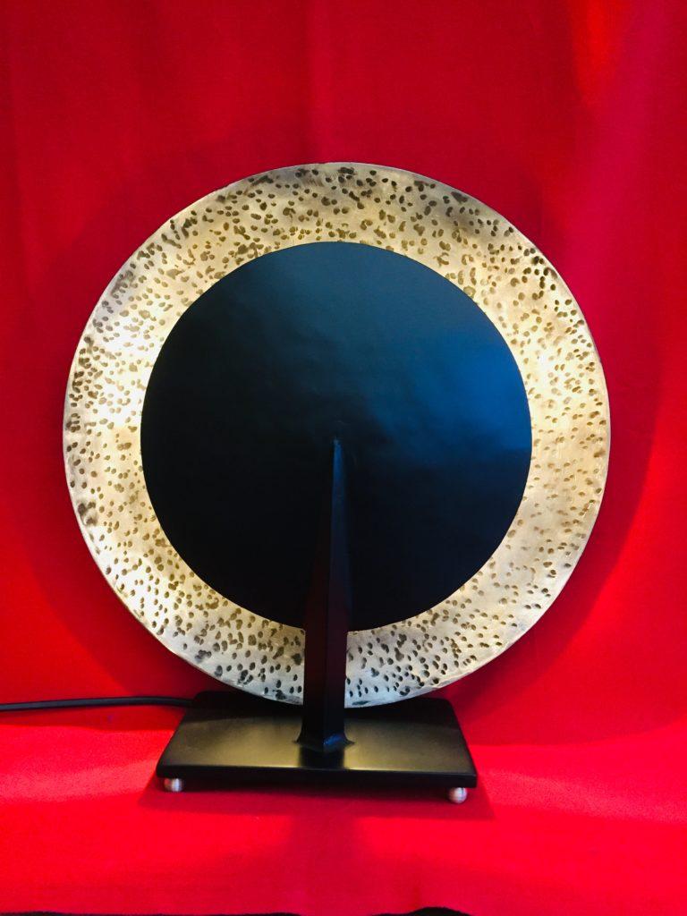 """Lampe """"éclipse"""" acier forgé"""