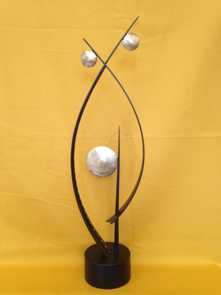 """Lampe design en fer forgé et laiton avec """"led"""""""